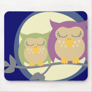 Moon Owls Mouse Mat Mouse Pad
