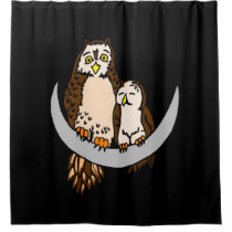 Moon Owls Shower Curtain