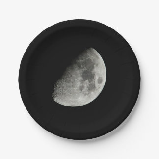 Moon Paper Plate