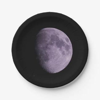 Moon Paper Plates