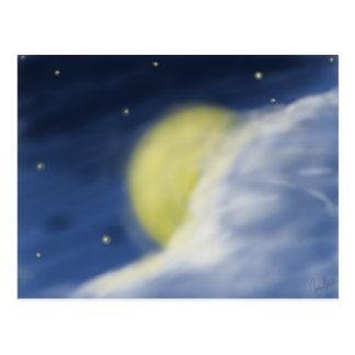 Moon Partly Hidden by a Cloud Postcard