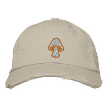 Moon Pattern Mushroom Embroidered Baseball Cap