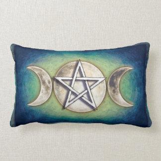 Moon pentagram - three-fold moon Artwork II Lumbar Pillow