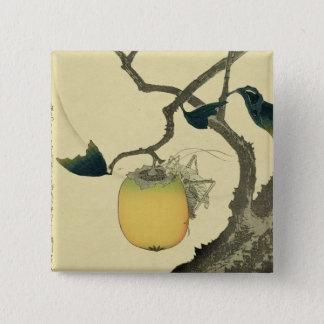 Moon, Persimmon and Grasshopper, 1807 Pinback Button