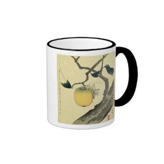 Moon, Persimmon and Grasshopper, 1807 Ringer Mug