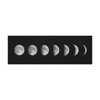 Moon Phases and Stars Canvas Print