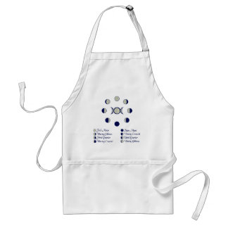 Moon Phases Adult Apron