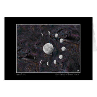 Moon Phases in an Imagined Universe Card