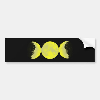 Moon phases moon phases bumper sticker