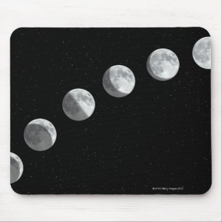 Moon phases mouse pad