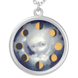 Moon Phases NECKLACE fairy moon cycle gothic
