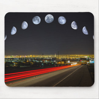 Moon Phases Panorama Over Las Vegas Mouse Pad