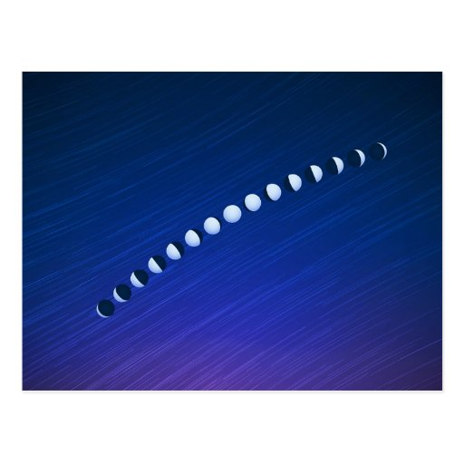 Moon Phases Post Card