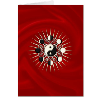 Moon Phases, Sun & Yin Yang - Polarity & Duality Card