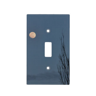 Moon photo light switch cover