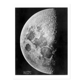 Moon ~ Photograph 1865 Postcard