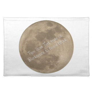 Moon Placemat Customize Full Moon Astronomy Decor