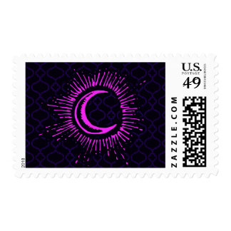 """""""Moon"""" Postage Stamp (PK/BLK/PUR)"""