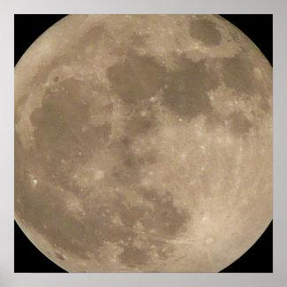 Moon Poster Astronomy Lunar Full Moon Poster