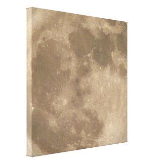 Moon Print Astronomy Full Moon Art Canvas Print