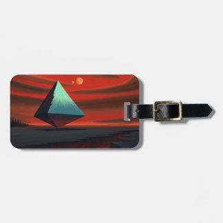 Moon Pyramid Bag Tag