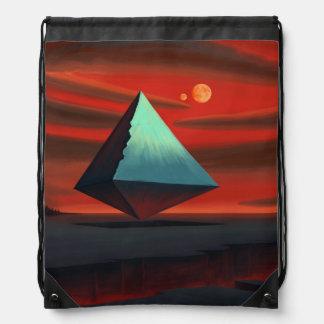 Moon Pyramid Drawstring Backpack