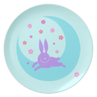 Moon Rabbit Dinner Plate