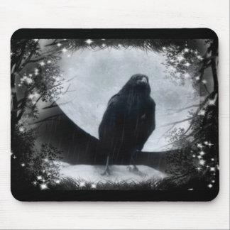 Moon Raven Mouse Pad