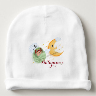 Moon Ride Seashell Carriage  Personalized Baby Beanie