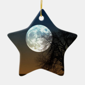 Moon Rise Ceramic Ornament