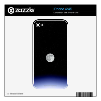 Moon rise over Earth Decal For The iPhone 4
