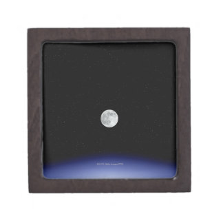 Moon rise over Earth Jewelry Box
