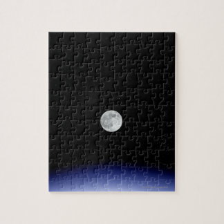 Moon rise over Earth Jigsaw Puzzle