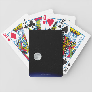 Moon rise over Earth Poker Cards