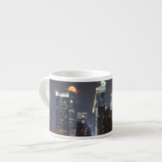 Moon rises over midtown New York. Espresso Cup