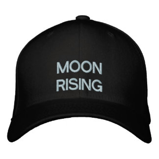 Moon Rising Embroidered Baseball Hat