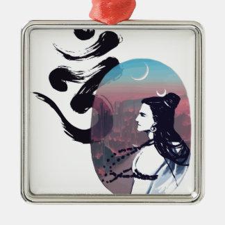 Moon Rising Ohm Metal Ornament