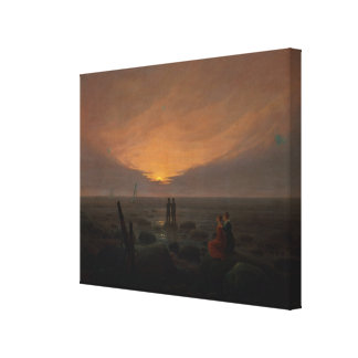 Moon Rising Over the Sea, 1821 Gallery Wrap Canvas