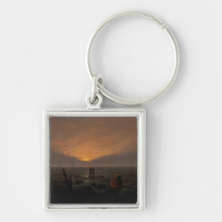 Moon Rising Over the Sea, 1821 Keychain