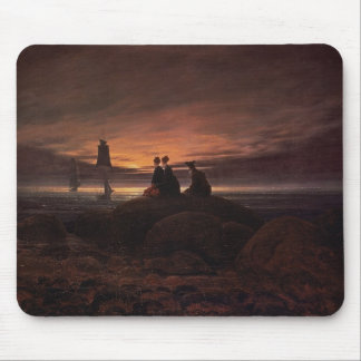 Moon Rising Over the Sea, 1822 (oil on canvas) Mouse Pad