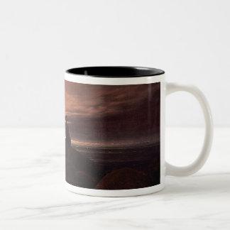 Moon Rising Over the Sea, 1822 (oil on canvas) Two-Tone Coffee Mug