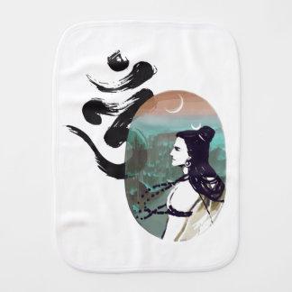 Moon Rising  Shiva Burp Cloth