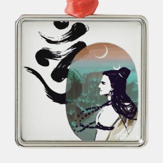 Moon Rising  Shiva Metal Ornament