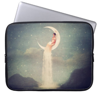 Moon River Lady Laptop Computer Sleeve
