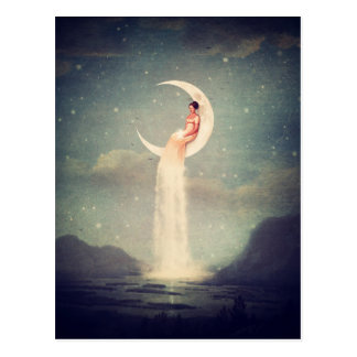 Moon River Lady Postcard