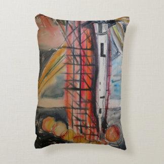 Moon Rocket 1969 Historical Memorabilia Accent Pillow