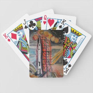 Moon Rocket 1969 Historical Memorabilia Bicycle Playing Cards