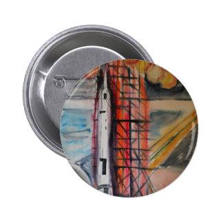 Moon Rocket 1969 Historical Memorabilia Pinback Button