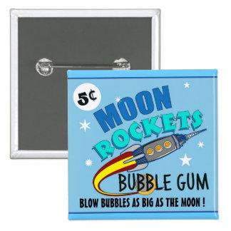 Moon Rockets Bubble Gum Pinback Button