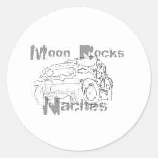 Moon Rocks Naches Classic Round Sticker